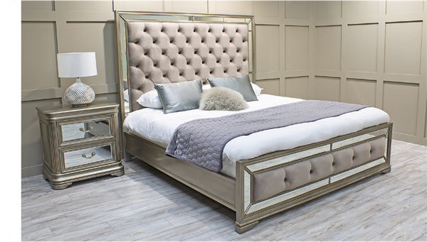 "Jessica 5'0"" King Size Bed Frame - AR Furnishings - Specialists In Bringing Luxury Into Your Home."