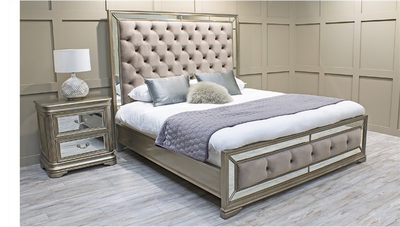 "Jessica 6'0"" Super King Size Bed Frame - AR Furnishings"