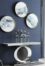 Load image into Gallery viewer, Selene Bone White Marble & Chrome Console Table