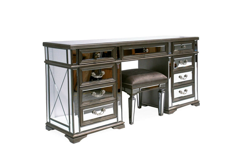 Jessica Knee Hole Dressing Table - AR Furnishings - Specialists In Bringing Luxury Into Your Home.