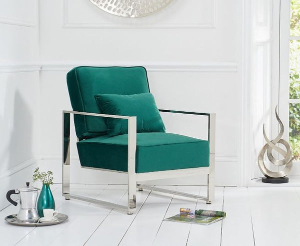 Saffron Velvet Accent Chair - AR Furnishings - Specialists In Bringing Luxury Into Your Home.
