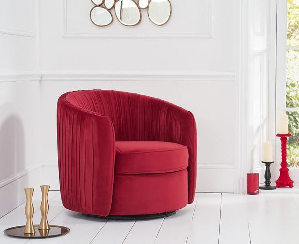Sarana Velvet Swivel Chair - AR Furnishings - Specialists In Bringing Luxury Into Your Home.