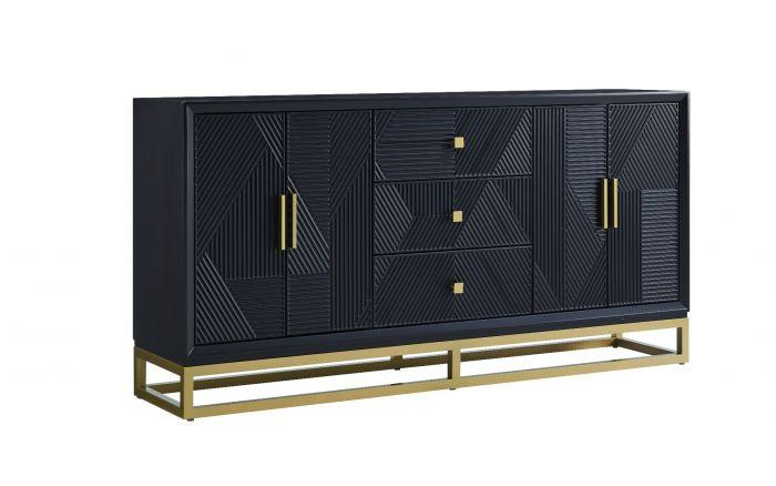 Orlando 2 Door Large Black Sideboard - AR Furnishings - Specialists In Bringing Luxury Into Your Home.