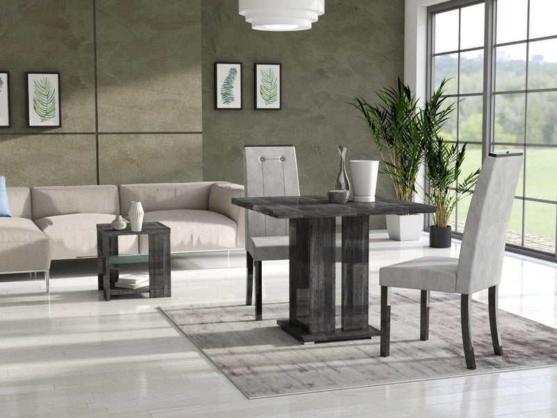 San Martino Italian Armony High Gloss Grey Lamp Table