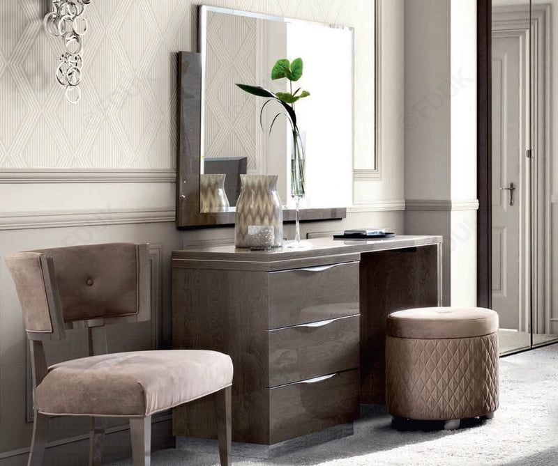 Platinum Night Toilette High Gloss Vanity Dresser - AR Furnishings - Specialists In Bringing Luxury Into Your Home.