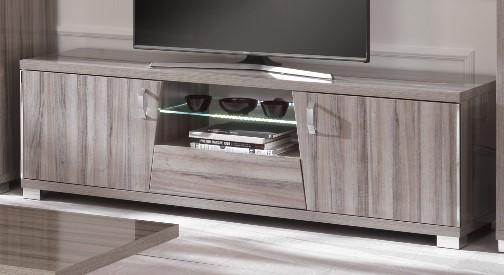Glamour Grey Walnut TV Unit with LED Lights - AR Furnishings - Specialists In Bringing Luxury Into Your Home.