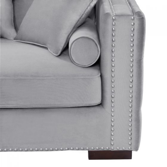 Grey Moscow Corner Suite-Left - AR Furnishings - Specialists In Bringing Luxury Into Your Home.