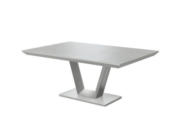Vivaldi 160 Rect Matt Grey High Gloss Dining Table - AR Furnishings - Specialists In Bringing Luxury Into Your Home.