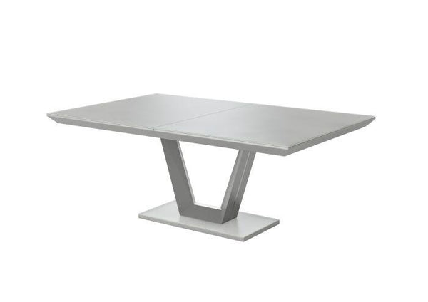 Vivaldi 160-200cm Ext Matt Grey High Gloss Dining Table - AR Furnishings - Specialists In Bringing Luxury Into Your Home.