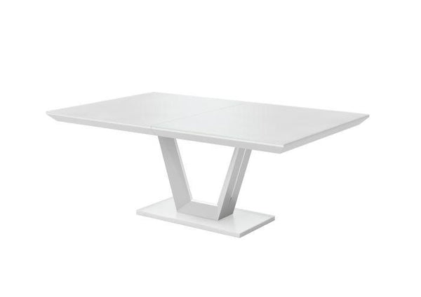 Vivaldi 160-200cm Ext Matt White High Gloss Dining Table - AR Furnishings - Specialists In Bringing Luxury Into Your Home.