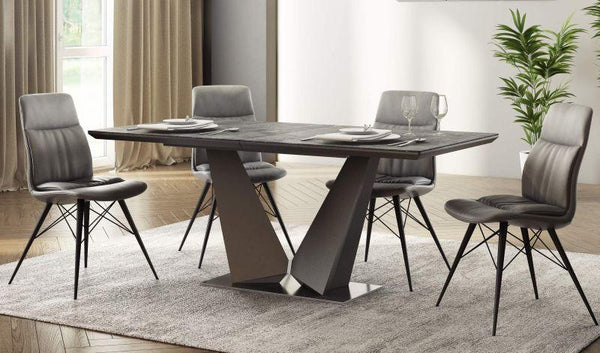 Westin Ceramic Ext Dining Table Grey - 180-220cm - AR Furnishings - Specialists In Bringing Luxury Into Your Home.