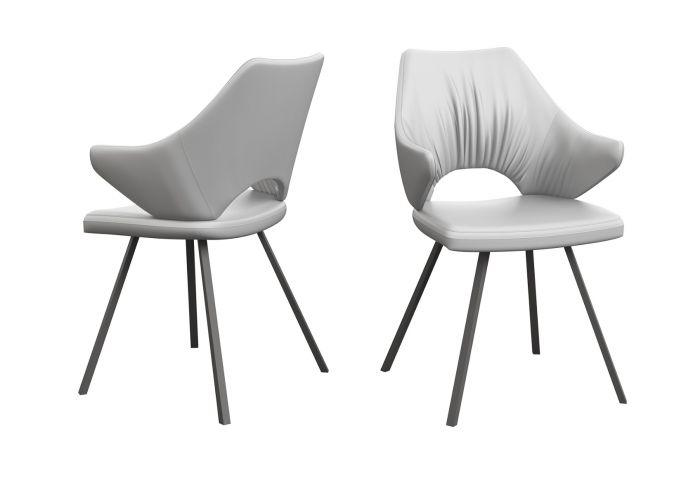 Zola White Faux Leather Dining Chair - AR Furnishings - Specialists In Bringing Luxury Into Your Home.