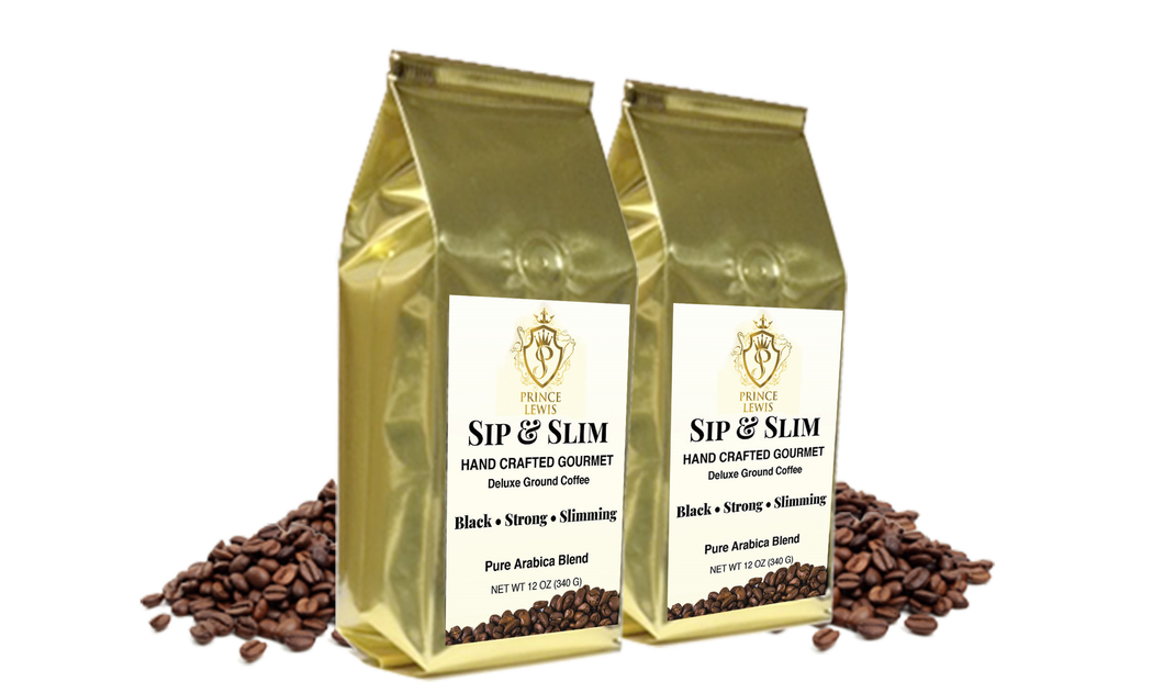 Sip & Slim Gourmet Deluxe Ground Coffee 2 Bags 24 oz
