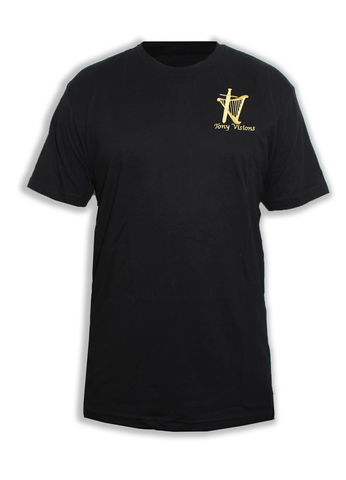 Men's Black Embroidered Logo Tee