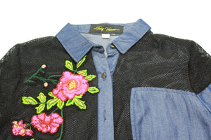 Denims Womans Embroidery Shirt