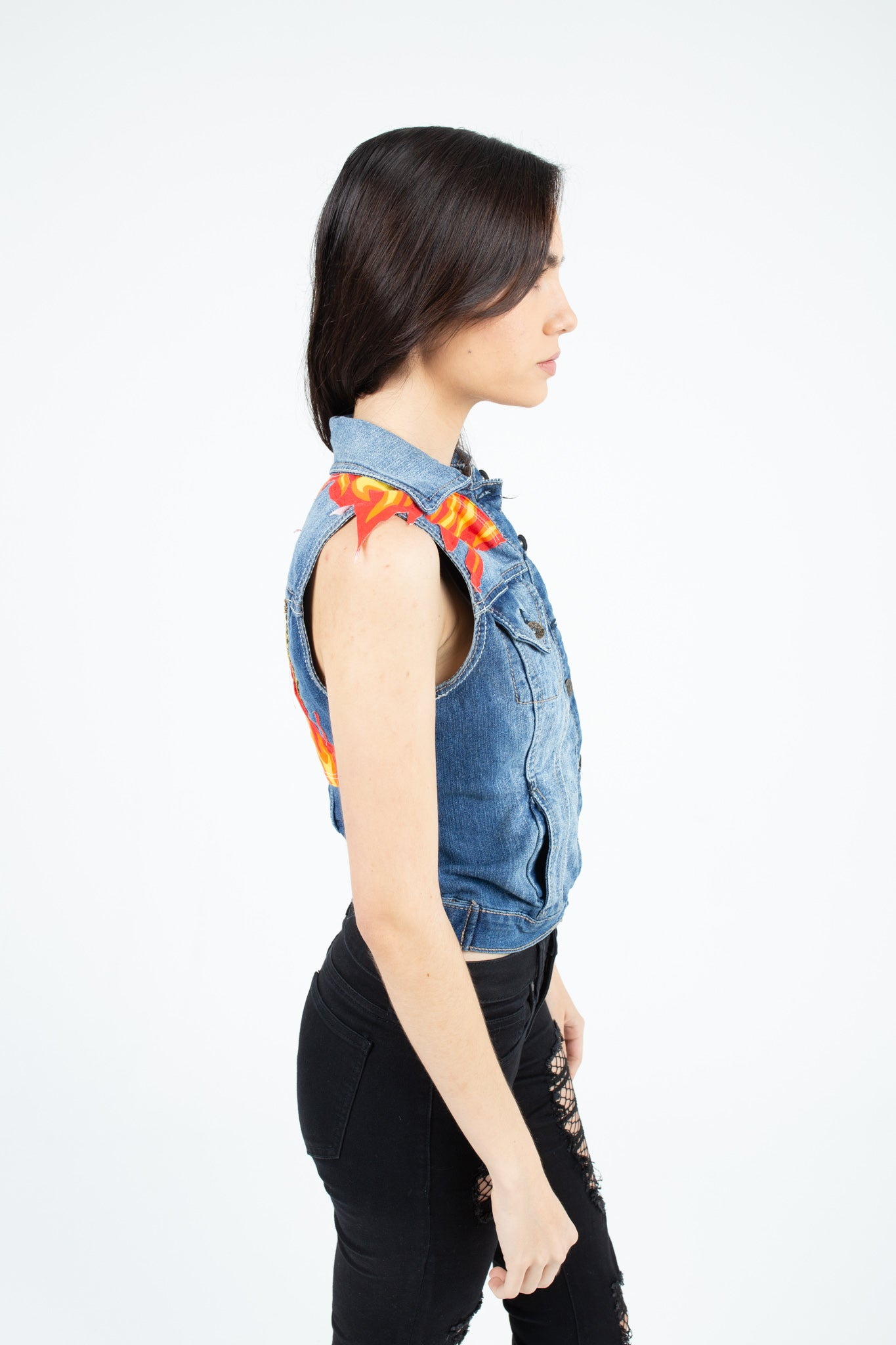 Fear Rage Love Denim Vest