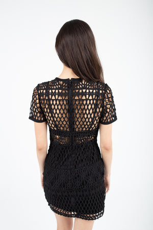 Black Netted Dress