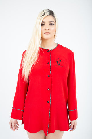 Red Alert Womans Light Shirt Dress