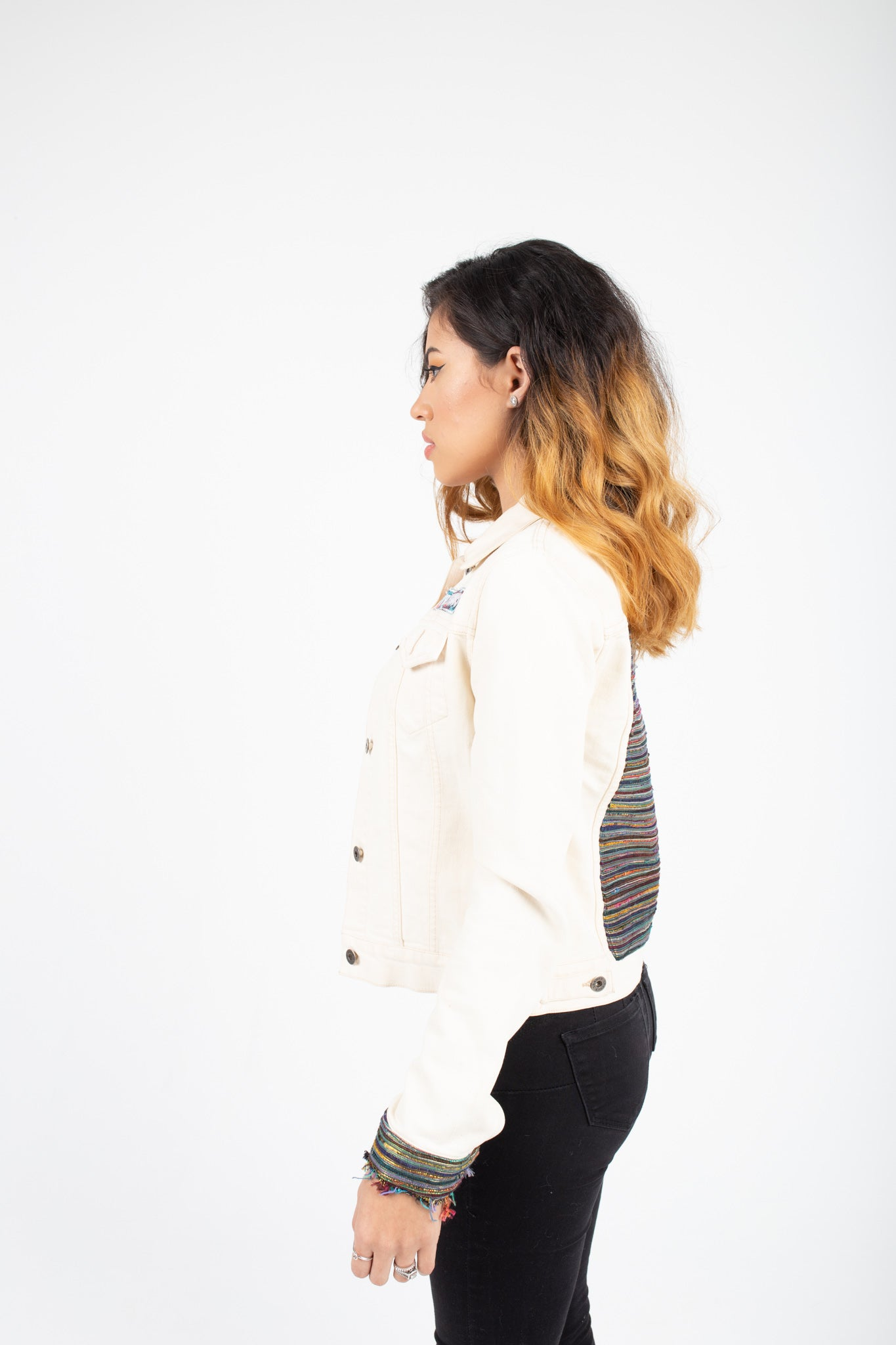 Cream Denim Jacket