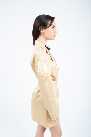 Gold Light Trench Robe