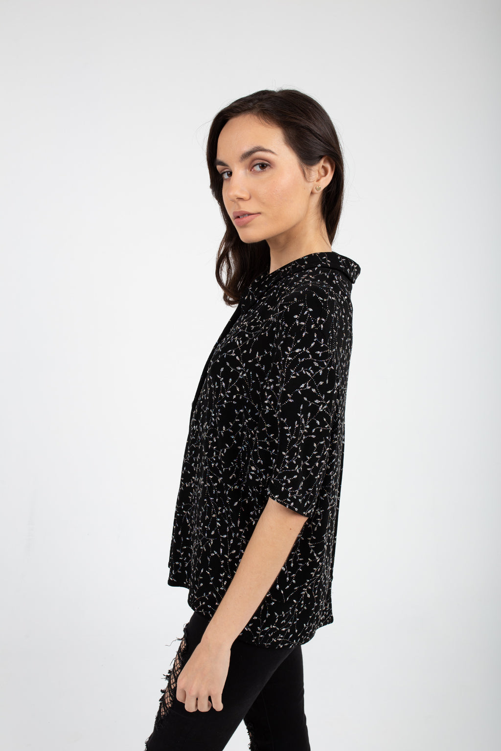 Shining Black Woman's Lux Top