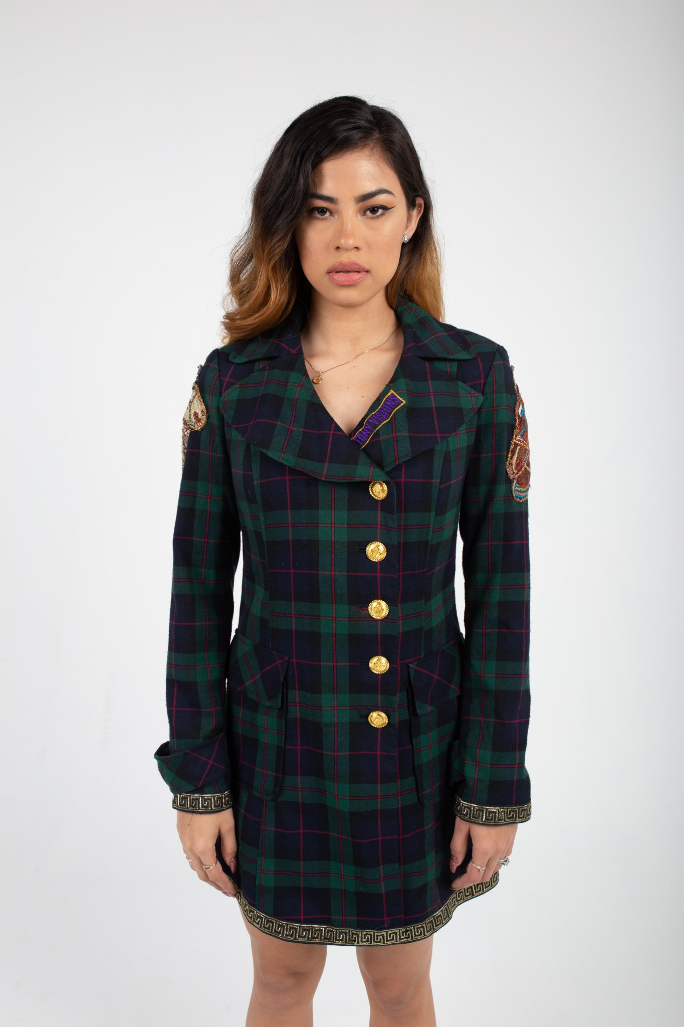 Plaid Luxury Trench