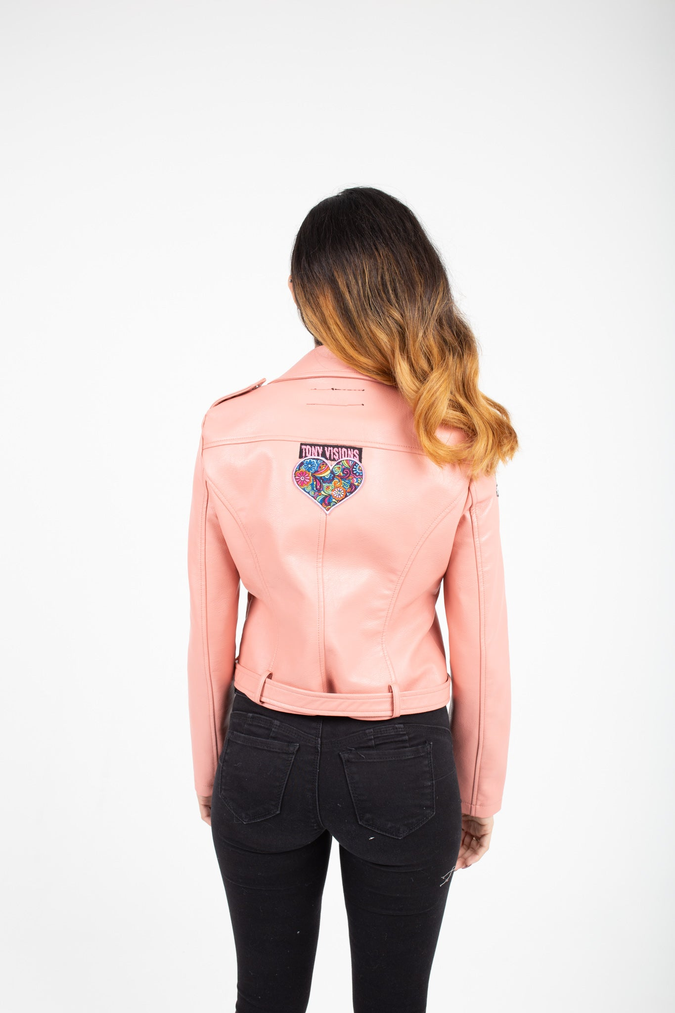 Pink Hearts Leather