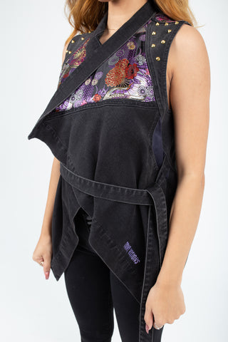 Purple Heart Womans Denim Wrap