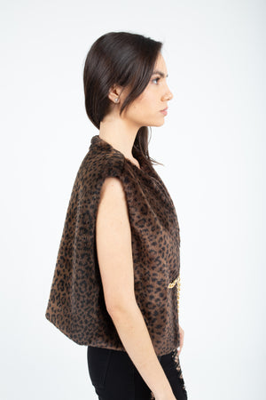 United Leopard Fur Vest