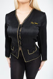 Golden Wing Light Black Blazer