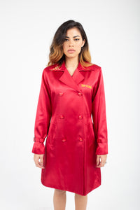Royal Red Satin Coat