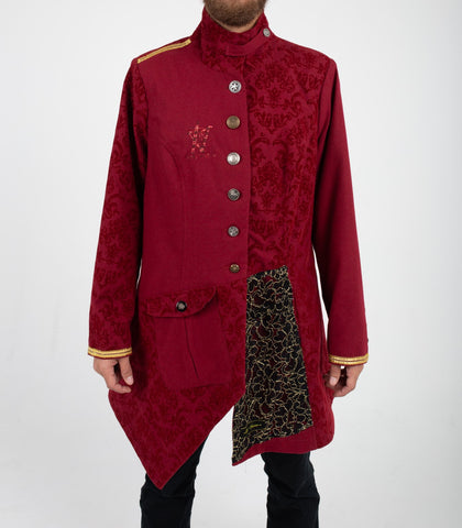Red Imperial Mens Trench Coat