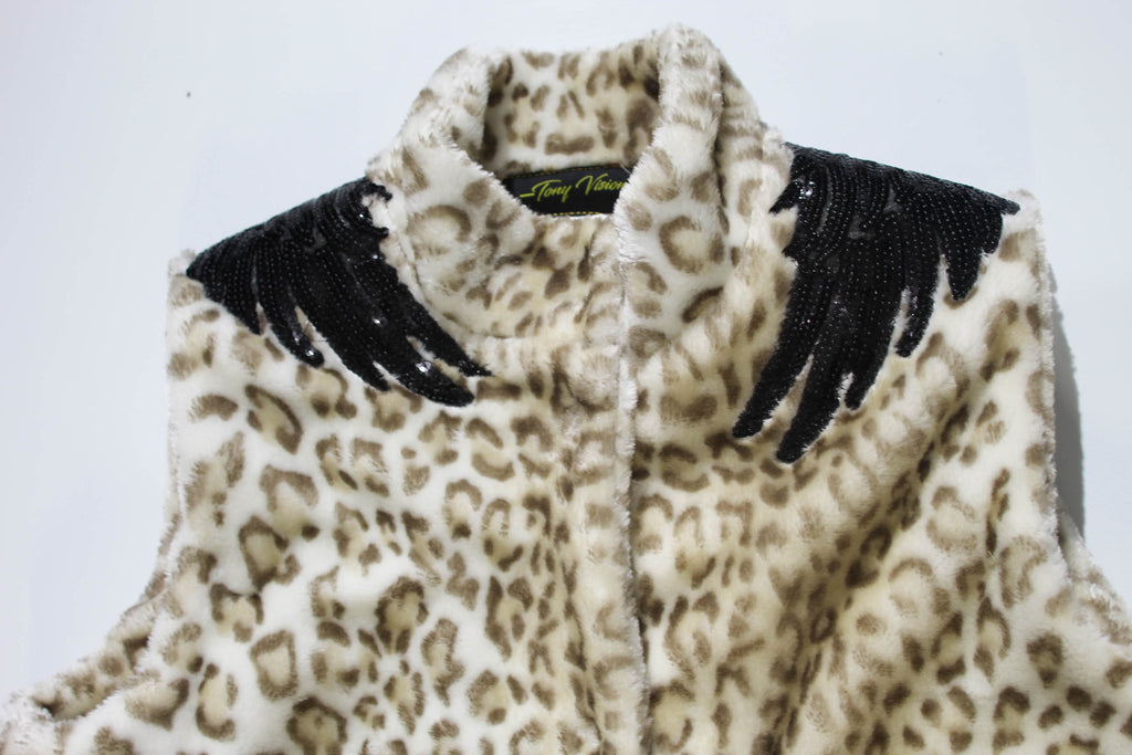 White Leopard Flight Fur