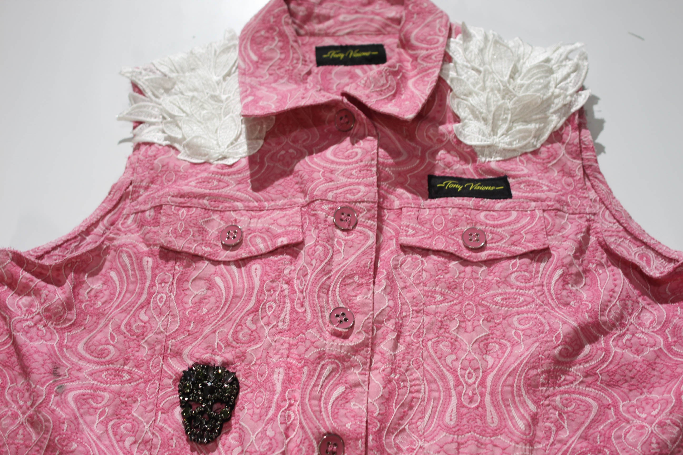 Angel Winged Pink Paisley