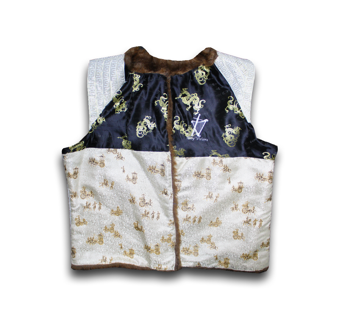 Reversible Fur Royalty Vest