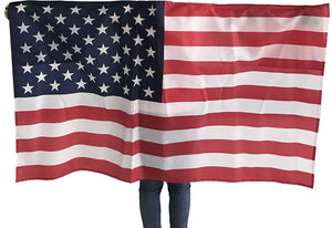 Wearable Wearible American Flag 4th of July USA United States 3x5 Flag Halloween Comic Con Costume Cape America Patriotic Outfit Clothing Clothes