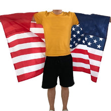 Load image into Gallery viewer, Wearable Wearible American Flag 4th of July USA United States 3x5 Flag Halloween Comic Con Costume Cape America Patriotic Outfit Clothing Clothes
