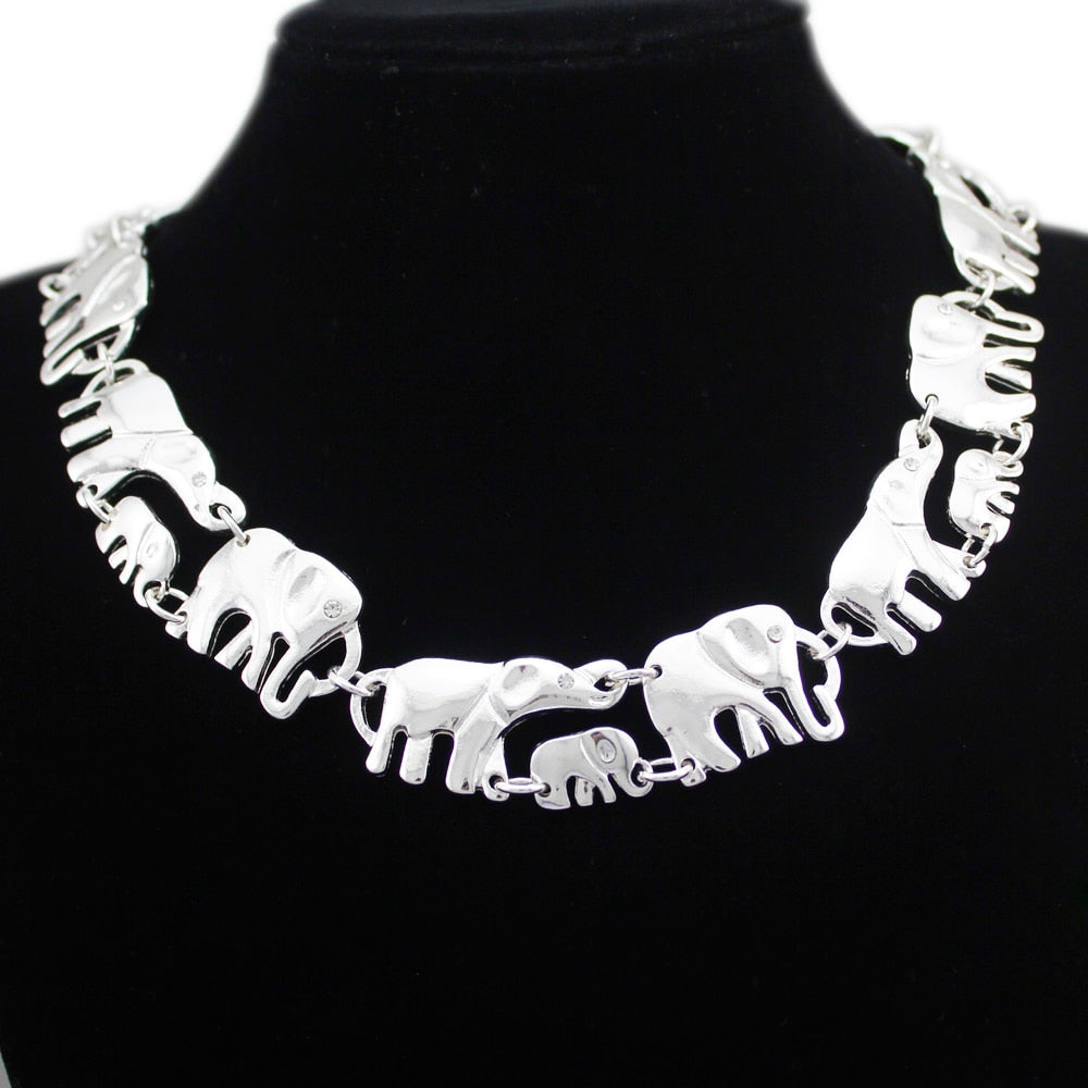 Statement African Elephant Necklace - Earth Ark Boutique