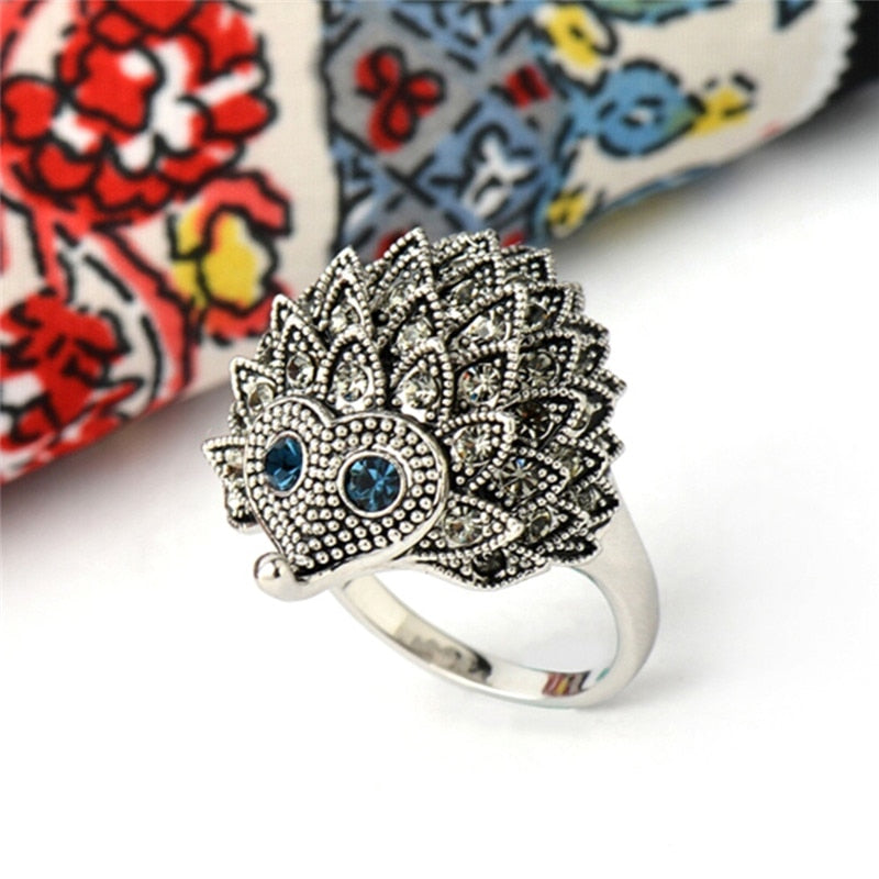 Hedgehog Cocktail Ring - Earth Ark Boutique