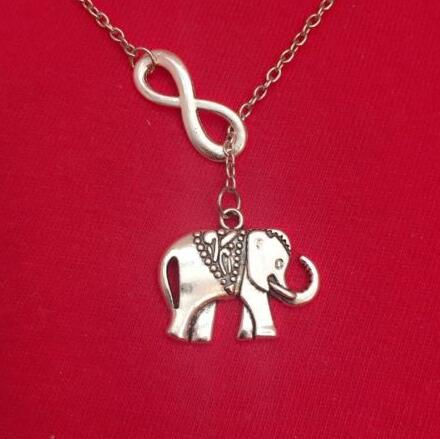Silver Infinity Elephant Necklace - Earth Ark Boutique