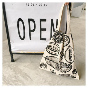 Re-usable Floral Print Canvas Tote Bag - Earth Ark Boutique