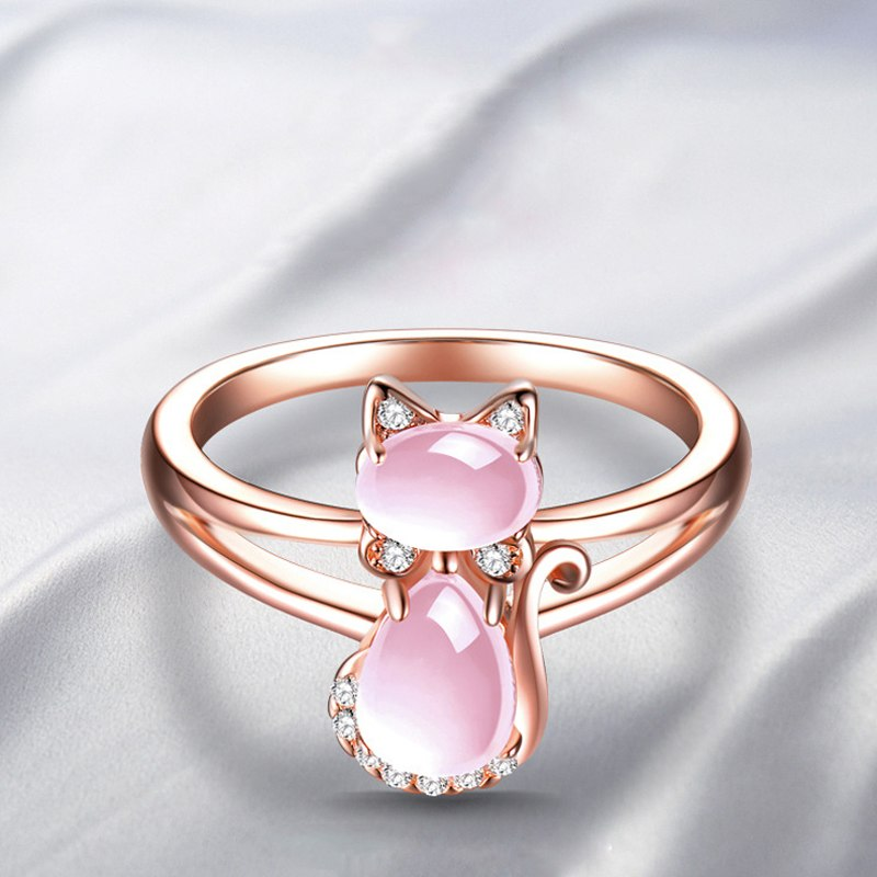 Rose Gold Cat Ring - Earth Ark Boutique