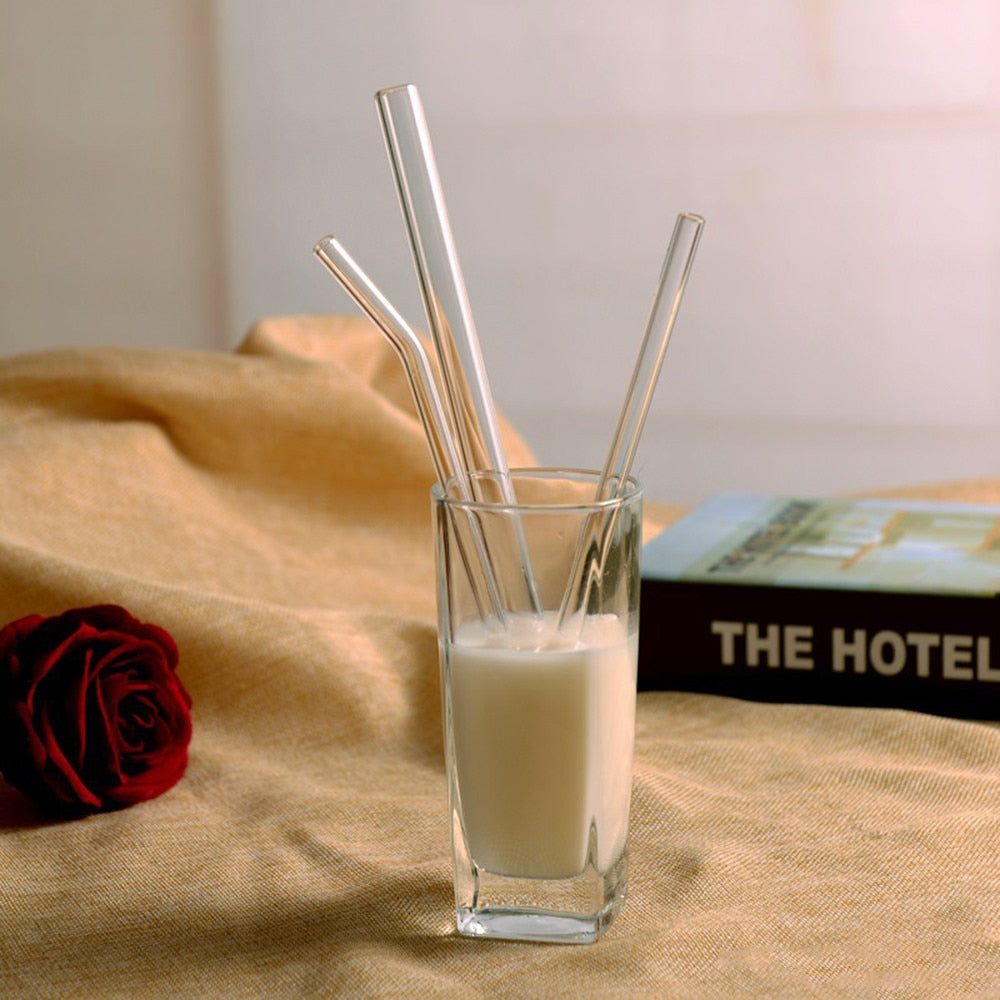 Reusable Glass Drinking Straws for Smoothies & Frozen Drinks - Earth Ark Boutique