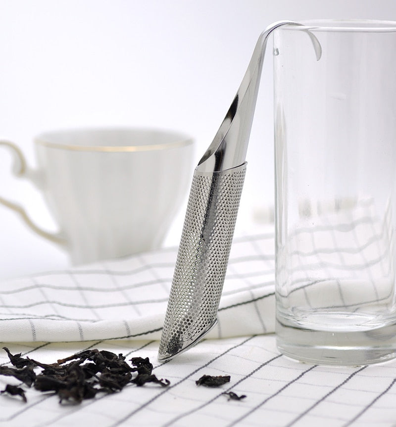 Stainless Steel Loose Tea Infuser Pipe Design - Earth Ark Boutique