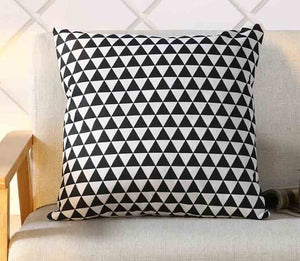 Geometric Printed Linen Cotton Cushion Cover - Earth Ark Boutique