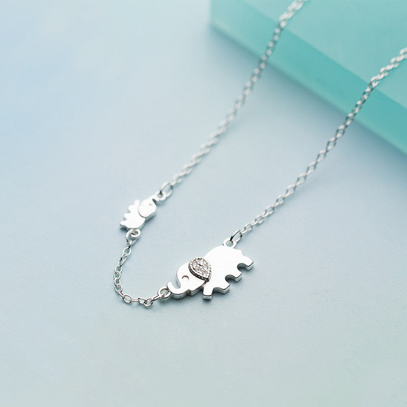 Sterling Silver Elephant Necklace - Earth Ark Boutique