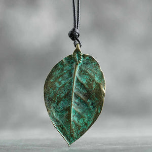 Green Leaf Pendant - Earth Ark Boutique
