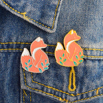 Fox Enamel Lapel Pin Brooch - Earth Ark Boutique