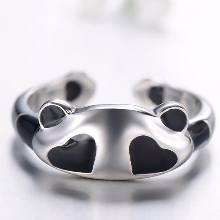 Sterling Silver Panda Ring - Earth Ark Boutique