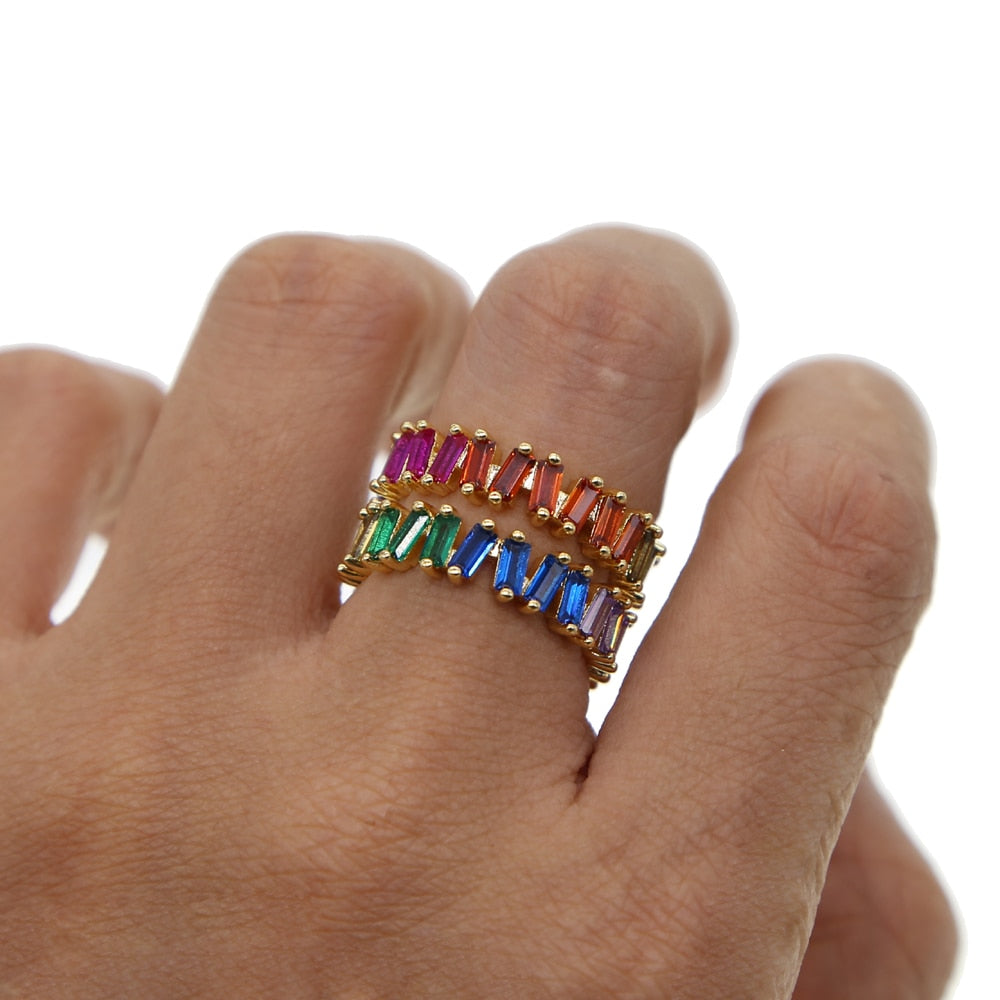Gold Rainbow Ring - Earth Ark Boutique